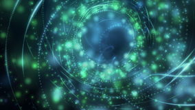 Futuristic eco animation with moving particle stripe object, loop HD 1080p stock footage