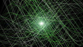 Futuristic eco animation with moving wave object and lights, loop HD 1080p stock footage