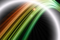 Futuristic eco wave background design with lights Stock Photo