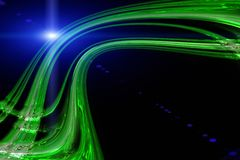 Futuristic eco wave design with light Royalty Free Stock Image