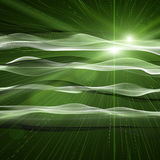 Futuristic eco wave design with light Royalty Free Stock Photos