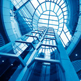 Futuristic elevator Stock Photography