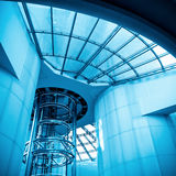 Futuristic elevator in modern tower Royalty Free Stock Images