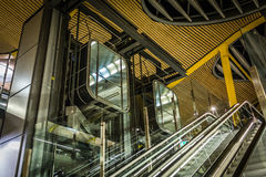 Futuristic elevators Royalty Free Stock Photography