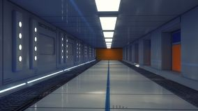 Futuristic empty interior corridor stock images