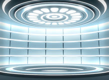 Futuristic empty stage Stock Photography