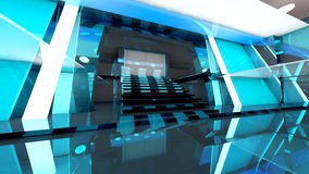Futuristic entrance hall Royalty Free Stock Photos