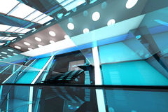 Futuristic entrance hall Royalty Free Stock Image
