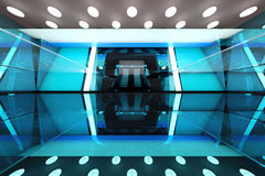 Futuristic entrance hall Stock Photo