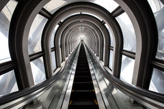 Futuristic escalator ,abstract space in a modern building Royalty Free Stock Images