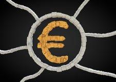 Futuristic euro symbol Stock Image
