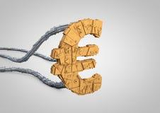 Futuristic euro symbol Stock Images