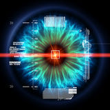 Futuristic eye with laser ray Stock Photos