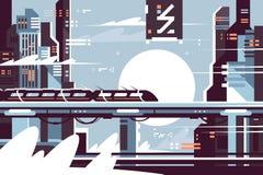 Futuristic fantastic train of future Stock Image