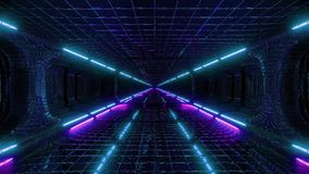 Futuristic fantasy scifi wireframe tunnel building 3d rendering live wallpaper motion background motion design endless