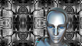 Futuristic Female Android Stock Photo