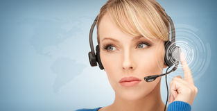 Futuristic female helpline operator Stock Images