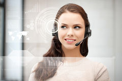 Futuristic female helpline operator Stock Photos