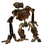 Futuristic fighting machine in the steampunk style Stock Photography