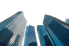 Futuristic financial district Royalty Free Stock Images