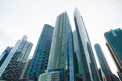 Futuristic financial district. ,Skyscrapers Prosperity stock photography