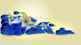 Futuristic floral background Stock Images