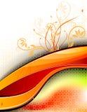 Futuristic Floral Design Template Stock Photo