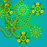 Futuristic floral ornament Stock Image
