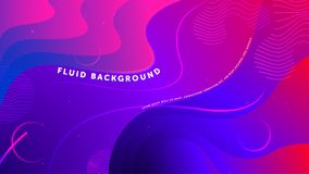 Futuristic fluid abstract background. Liquid blue pink gradient geometric shapes. Eps 10 vector royalty free illustration