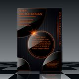 Futuristic flyer vector template Royalty Free Stock Images