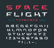 Futuristic font with rust texture Royalty Free Stock Image