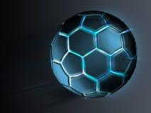 A futuristic football. Illustration of a futuristic football Stock Images