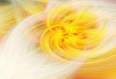 Futuristic fractal world illustration. Yellow color vector illustration