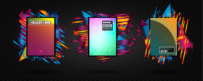 Futuristic Frame Art Design with Abstract shapes and drops of co. Lors behind the space for text. Modern Artistic flyer or party thai background Royalty Free Stock Photo