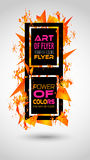 Futuristic Frame Art Design with Abstract shapes and drops of colors. Behind the space for text. Modern Artistic flyer or party thai background Royalty Free Stock Photo
