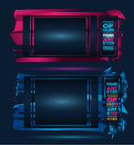 Futuristic Frame Art Design with Abstract shapes and drops of colors. Behind the space for text. Modern Artistic flyer or party thai background royalty free illustration