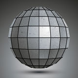 Futuristic galvanized 3d globe, grunge abstact Royalty Free Stock Photography