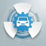 Futuristic Gear Car Technology Construction Fan Royalty Free Stock Photography