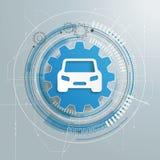 Futuristic Gear CarTechnology Construction Royalty Free Stock Photos
