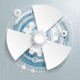 Futuristic Gear Construction Circuit Board 3 Options Stock Image