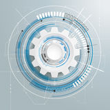 Futuristic Gear Technology Construction Circuit Board Stock Photography