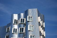 Futuristic Gehry houses in Medienhafen in Düsseldorf, germany stock images