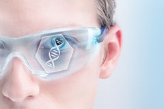 Futuristic genetics Stock Images
