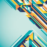 Futuristic geometric abstraction. Stock Photography