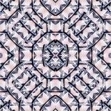 Futuristic Geometric Seamless Pattern Mosaic Stock Photos