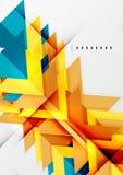 Futuristic geometric shapes, minimal design Royalty Free Stock Photos
