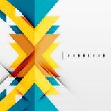 Futuristic geometric shapes, minimal design Stock Images