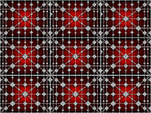 Futuristic Geometric Tech Pattern. Digital technique collage style futuristic tech abstract background pattern with geometric motif in vivid reds and black Stock Image