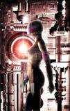 Futuristic girl Stock Photo