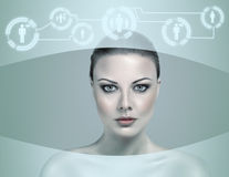 Futuristic girl Stock Photos